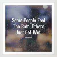 Feel the Rain Art Print