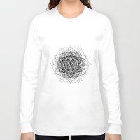 bali Long Sleeve T-shirts featuring Wood + Bali Print by Faith Dunbar