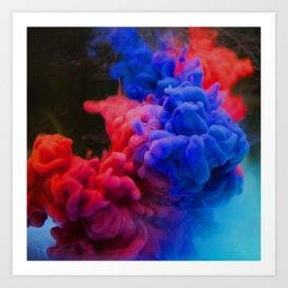 Colorful Smoke Screen Art Print