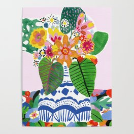 Abstract Flower Bouquet Poster