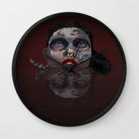 scorpio Wall Clocks featuring Scorpio by Sammy Cee
