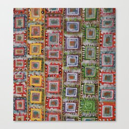 Many ornamented Frames put in vertical Rows Canvas Print