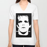 lou reed V-neck T-shirts featuring Lou Reed Reanimated  by Spirit Monster