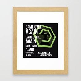 SUPER HEXAGON Framed Art Print