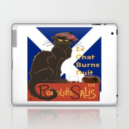 Le Chat Burns Nuit Haggis Dram Scottish Saltire Laptop & iPad Skin