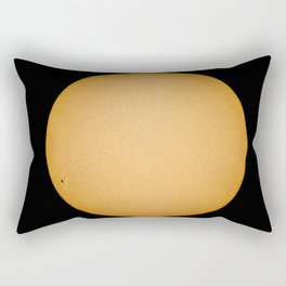 Sun with sunspots real image telescope and Sun filter. Observing the Sun Rectangular Pillow