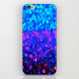 Sparkles Glitter Blue iPhone Skin