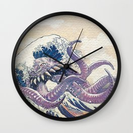 The Great Ultros Off Kanagawa Wall Clock