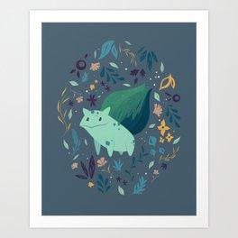 Grass Type Art Print