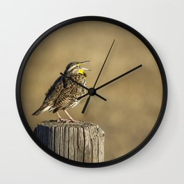 Song of a Meadowlark Wall Clock