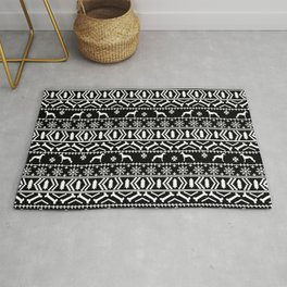 Italian Greyhound fair isle christmas snowflakes dog breed silhouette pattern gifts Rug