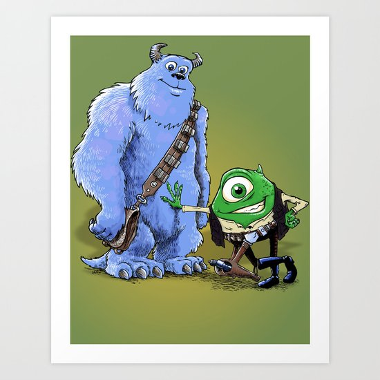 Hike and Chulley Art Print