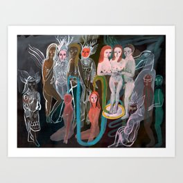 Swimming in the Spirit World Art Print