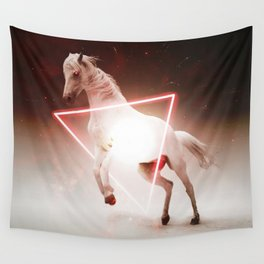 Crazy Horse Reactor Red Triangle Shaped by GEN Z Wall Tapestry