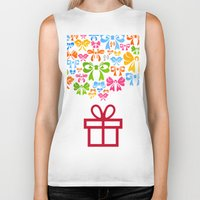 gift card Biker Tanks featuring Gift by aleksander1