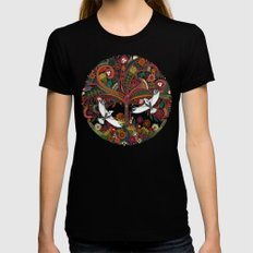 tree of life black Black Womens Fitted Tee MEDIUM