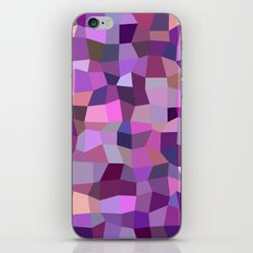 Purplish tile mosaic iPhone & iPod Skin