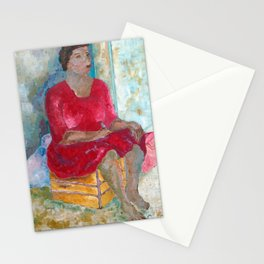Seated Woman Stationery Cards