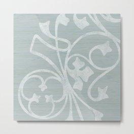 Rejas Grey Metal Print