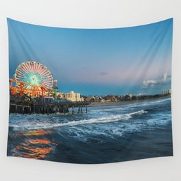 Wheel of Fortune - Santa Monica, California Wall Tapestry