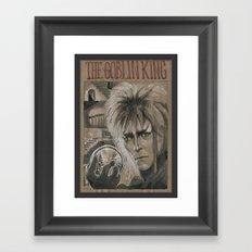 Bowie - Goblin King (DRAWLLOWEEN 3/31) Framed Art Print
