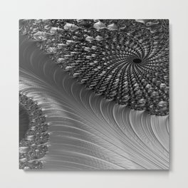 Grey Scale Metal Print