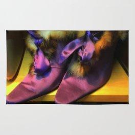 Purple Vintage Shoes with Fur   Fashion Rug