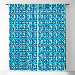 Mid-Century Modern Fish, Cobalt Blue, Turquoise and Aqua Blackout Curtain