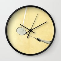 tennis Wall Clocks featuring Tennis by Cassia Beck