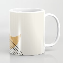 Moon mountain gold - Mid century style Coffee Mug