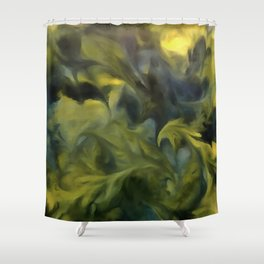 Jack Frost In Blue Gray and Yellow Shower Curtain