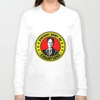dwight schrute Long Sleeve T-shirts featuring Dwight Schrute (Dwight Army Of Champions) by Silvio Ledbetter