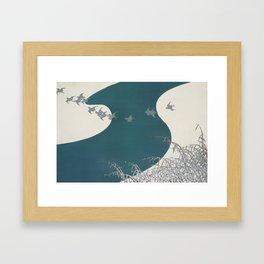 Kamisaka Sekka - Birds from Momoyogusa Framed Art Print