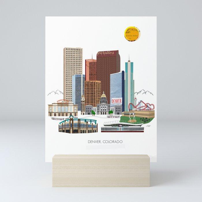Denver Skyline Mini Art Print