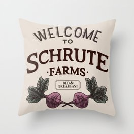 Welcome to Schrute Farms Throw Pillow