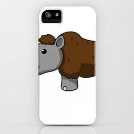 Wooly Rhino iPhone Case