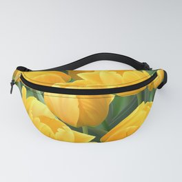 Yellow Tulips Field Fanny Pack