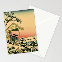 Japanese teahouse after the snow Stationery Cards