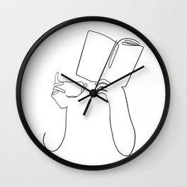 Book & Coffee Wall Clock