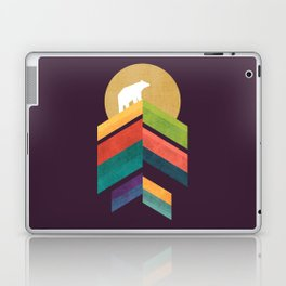 Lingering mountain with golden moon Laptop & iPad Skin