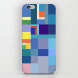 Blue Checker Pattern iPhone Skin