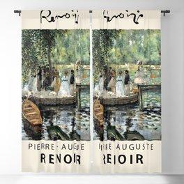 Pierre Auguste Renoir - La Grenouillère - Exhbition Poster - Art Print - Renoir Vintage Poster Prints Blackout Curtain