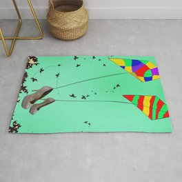 Flying Kites in May with May - shoes stories Rug