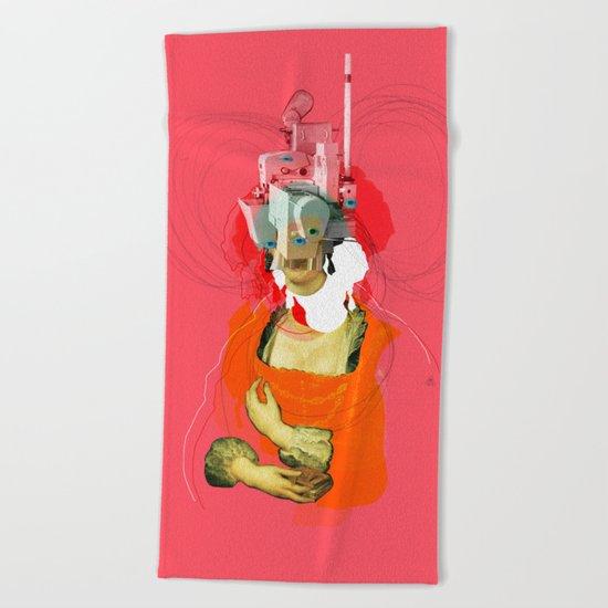 Peter Paul Rubens Pop Portrait v2 Beach Towel