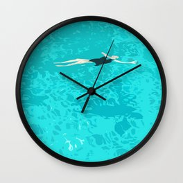 Ophelia Forgot Her Snorkel Again Wall Clock