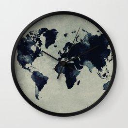 map world map 60 Wall Clock