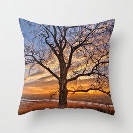 Winter Cottonwood Throw Pillow