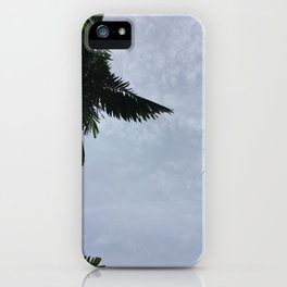 Palm trees and the clouds iPhone Case