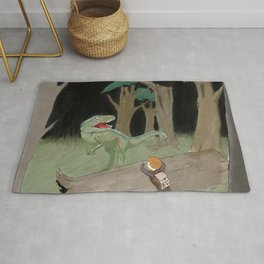 Raptor Trouble Colorized Rug