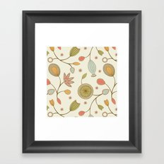 Mehndi Flower Framed Art Print